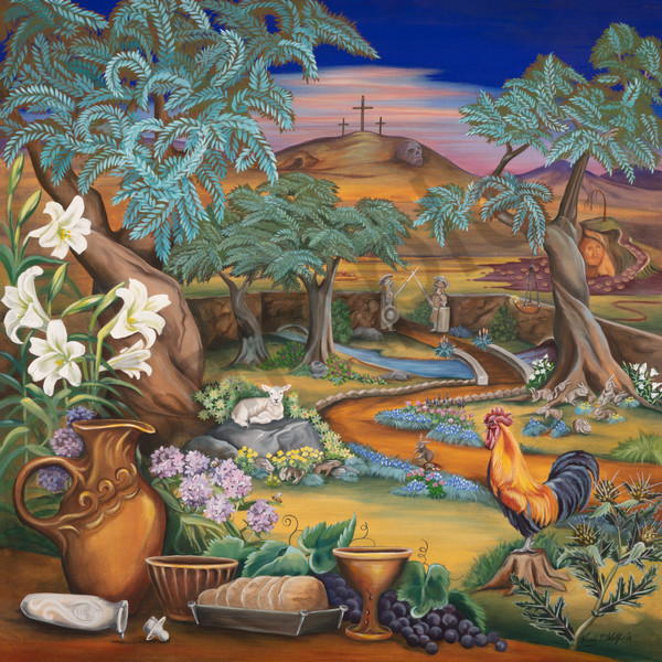 """Garden of Gethsemane"" by Storypainting artist Wendy L. Wolf / Prophetics Gallery"