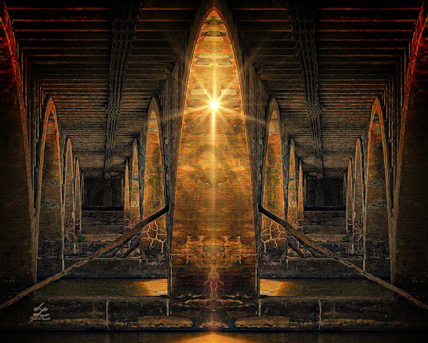 """Under The Bridge"" by digital artist John W. Lewis 