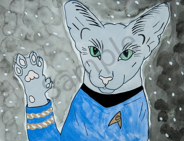 Star Trek Kittie 1 5x7 Art | arteparalavida