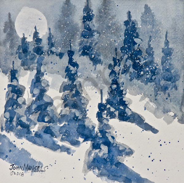 Moonlight Snow
