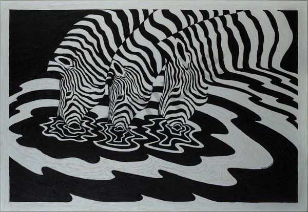 """Striped Vibes"" by India Artist Ilaisa Latu 