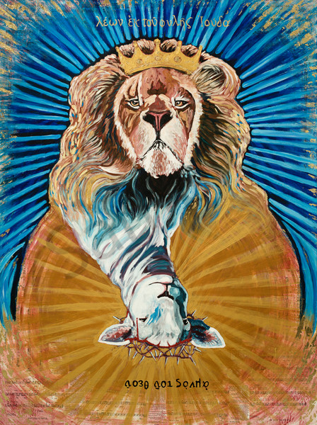 """The Lion And The Lamb"" by Arizona Prophetic Artist Heidi Ngai 