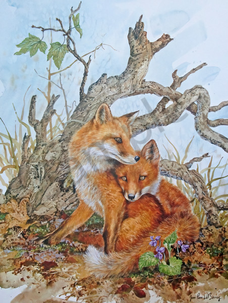 """Foxes"" by Colorado Artist Jean Pierre DeBernay 