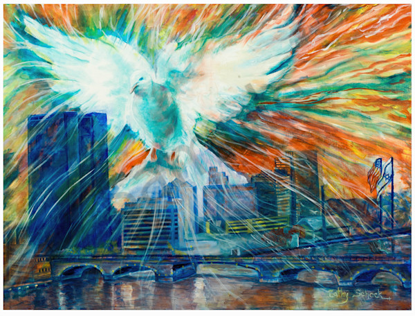 """Our Cities Belong To God"" by Ohio Artist Cathy Schock 