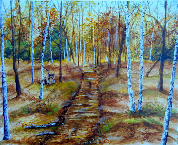 """Fall Path"" by Indiana Artist Gina Harding 