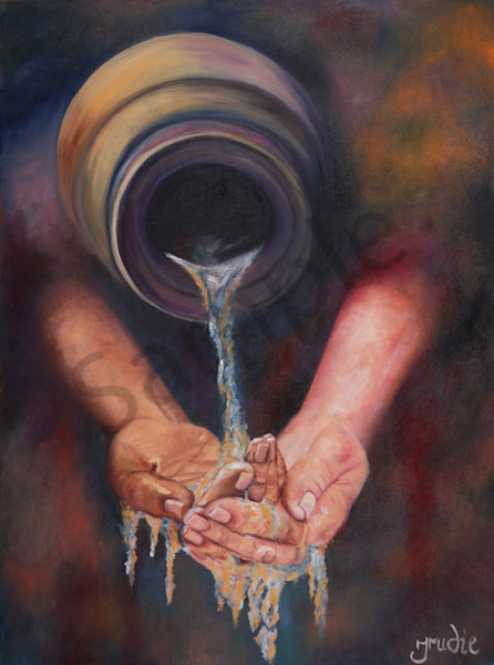 """Pour Out"" by South African Artist Trudie Oosthuizen 