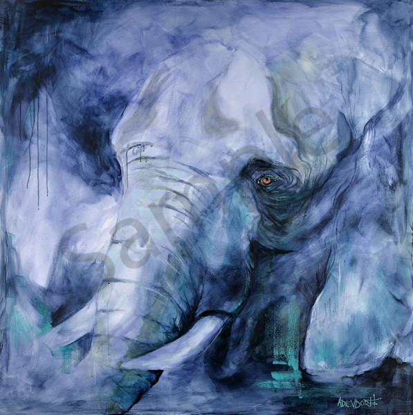 """Unrestrained - Elephant"" by Connecticut Artists Mandy Adendorff 