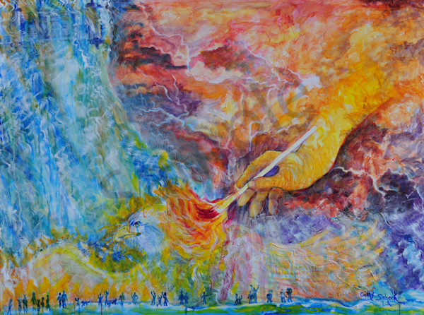 """One Touch Ignites My Soul"" by Ohio Artist Cathy Schock 