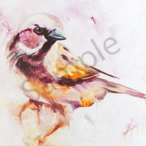"""His Eyes Are On The Sparrow"" by Australian Artist Grace Bailey 