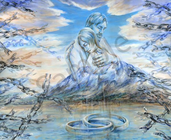 """Broken Chains Eternal Promise"" by Canadian Artist Melani Pyke | Prophetics Gallery"