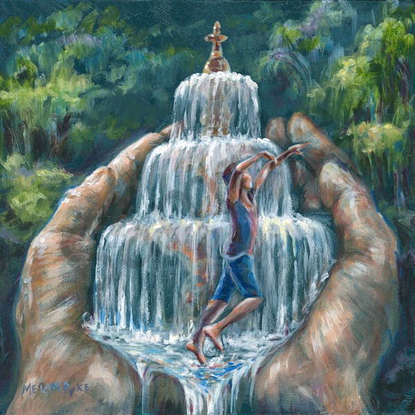 """Dancing In Fountain"" by Canadian Artist Melani Pyke 