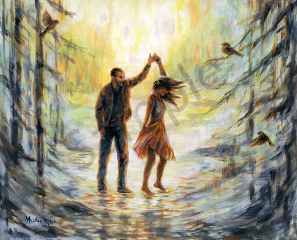 """Couple Dancing On Water"" by Canadian Artists Melani Pyke | Prophetics Gallery"