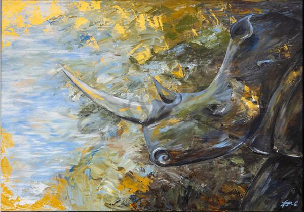 """Rhino"" by German Prophetic Artist Angela Günther | Prophetics Gallery"