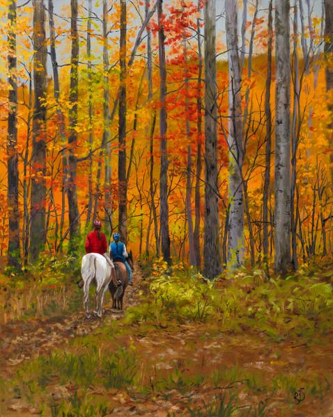 Autumn Ride Art | Roxana Sinex Art
