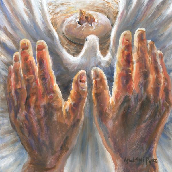 """Healing Hands"" by Canadian Artist Melani Pyke | Prophetics Gallery"
