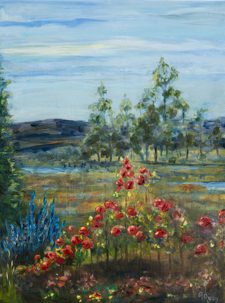 """Rose Garden View"" by Pennsylvania Artist April Ryan 