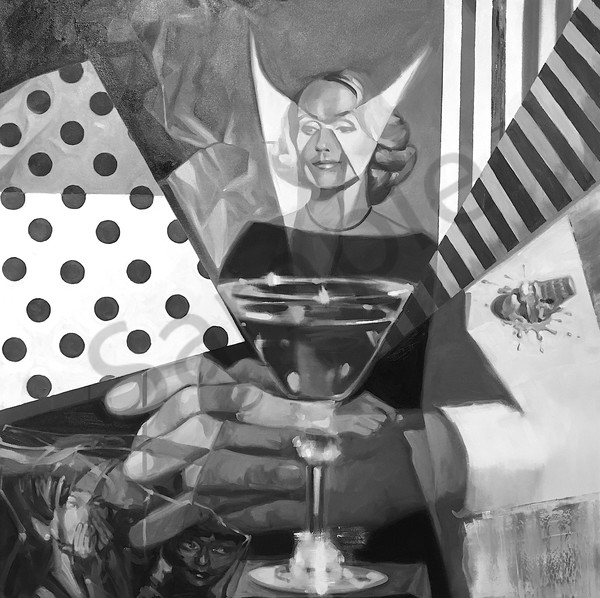 The Mixer 65x65 Oil On Cnvas Art   sheldongreenberg