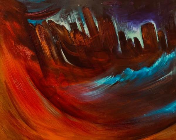 """Desolation"" by North Carolina Artist Patti Hricinak-Sheets | Prophetics Gallery"