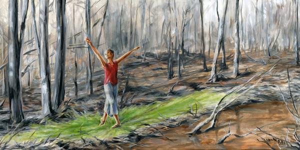 """Spreading Spring"" by Canadian Artist Melani Pyke | Prophetics Gallery"