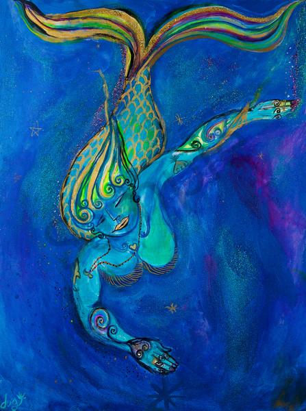 Zen Mermaid Art | DuggArt