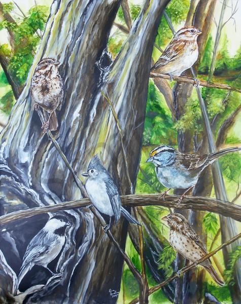 """Birds"" by Indiana Artist Gina Harding | Prophetics Gallery"