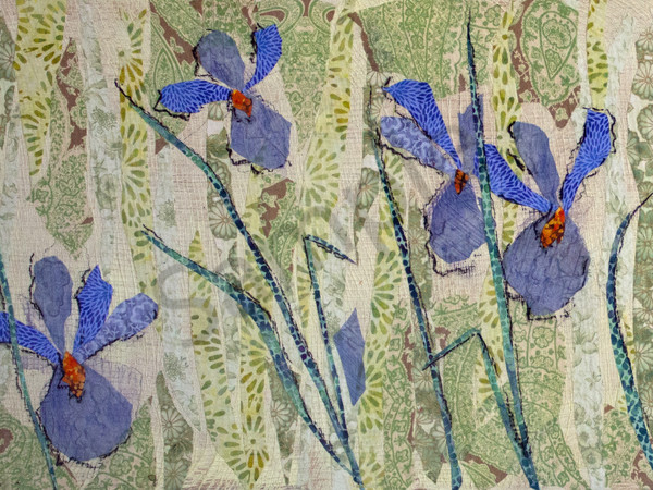 Iris (Left  Half) Print Art | Sharon Tesser LLC