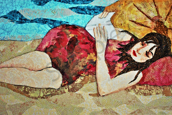 Beach Reader Print Art | Sharon Tesser LLC