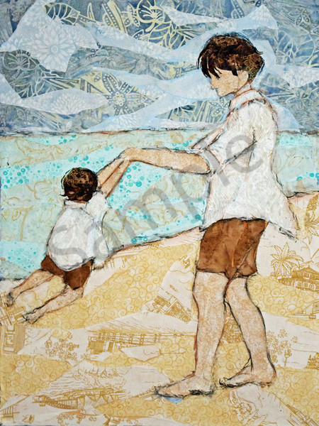 Swinging My Boy Print Art | Sharon Tesser LLC