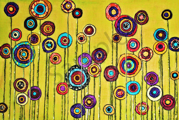 Green Poppies Print Art | Sharon Tesser LLC
