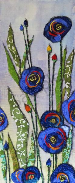 Garden Blue Flower  Print Art | Sharon Tesser LLC