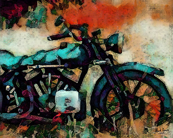 """""""Old Bike"""" by Indiana Digital Artist Mark Rouse 