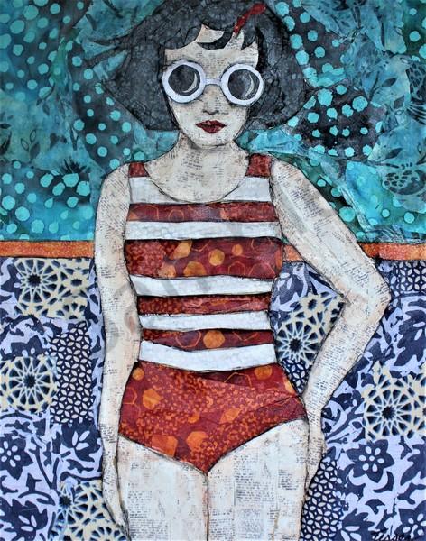 Cool Pool Girl Print Art | Sharon Tesser LLC