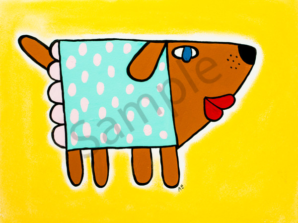 Cube Dog In Dress Art | arteparalavida