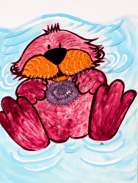 Otter And Sea Urchin Art | arteparalavida