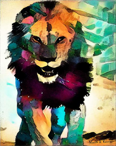 """Lion Of Judah""  by Indiana Digital Artist Mark Rouse | Prophetics Gallery"