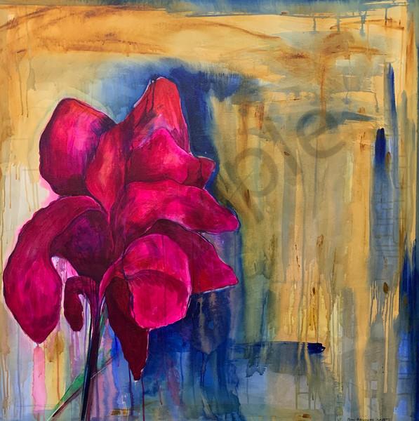 """Red Iris"" by North Carolina Artist Patti Hricinak-Sheets | Prophetics Gallery"