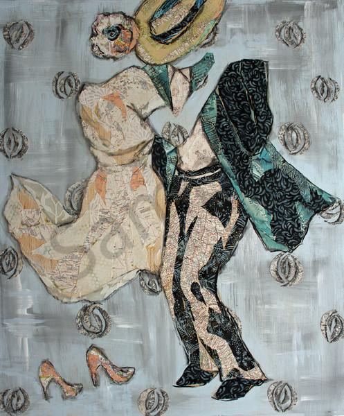 The Dance Print is from an original Sharon Tesser mosaic