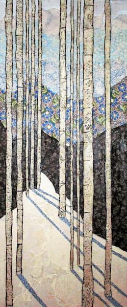 Blue Winter Reversed Art | Sharon Tesser LLC