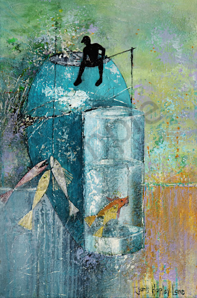 """Fishing In Chaos"" by Janis Ann Hopley 