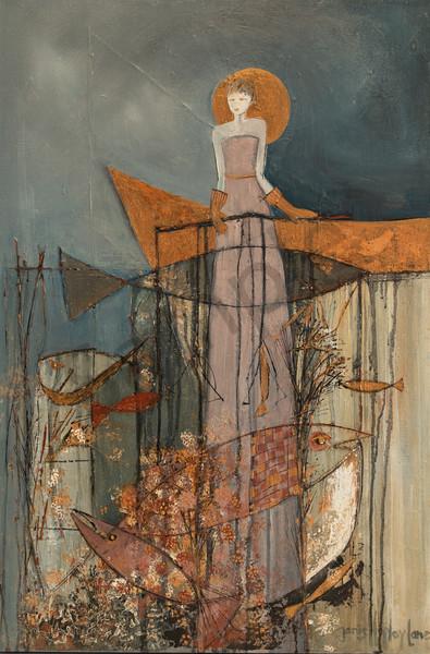 """Fisherwoman"" by South African Artist Janis Ann Hopley | Prophetics Gallery"