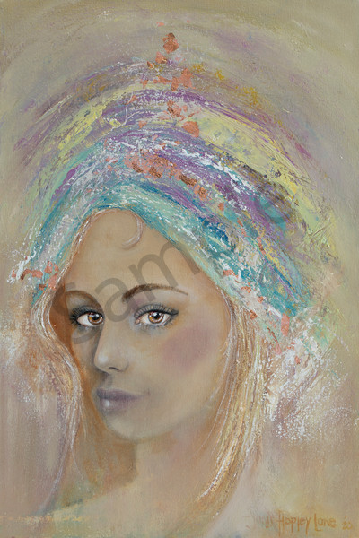 """Light In Her Eyes 5"" by South African Artist Janis Ann Hopley 