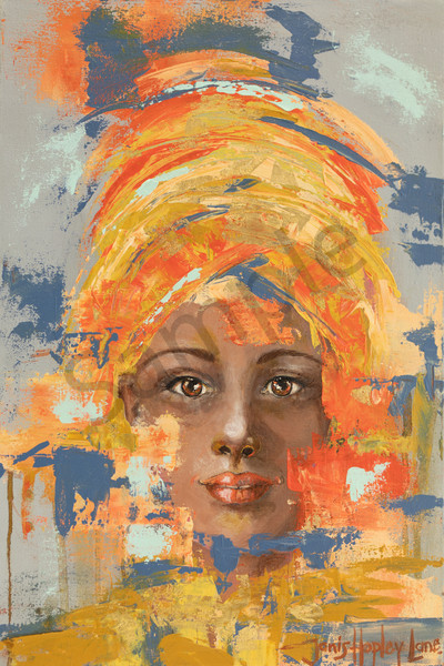 """Light In Her Eyes 3"" by South African Artist Janis Hopley Lane 