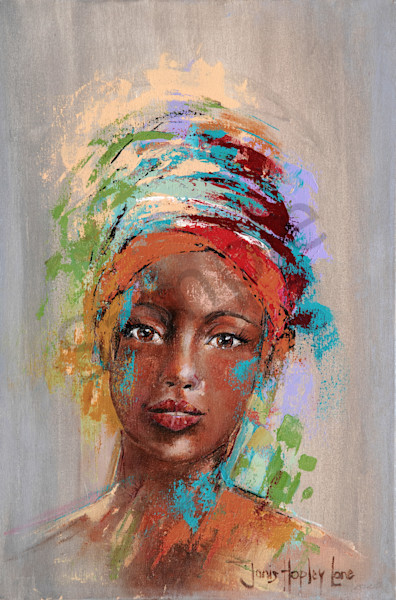 """Light In Her Eyes 2"" by South African Artist Janis Ann Hopley 