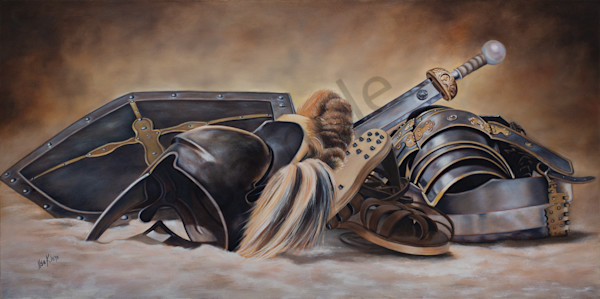 """""""Armor Of God"""" by Ilse Kleyn. Oil on canvas. Available for sale in prints at PropheticsGallery.com."""