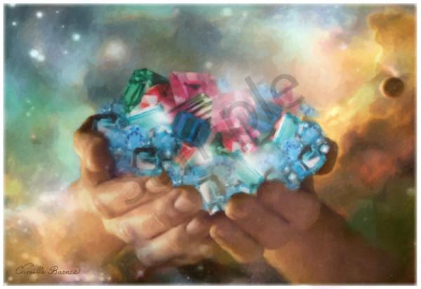 """""""The Hands Of God"""" by Louisiana Artist Camille Barnes 