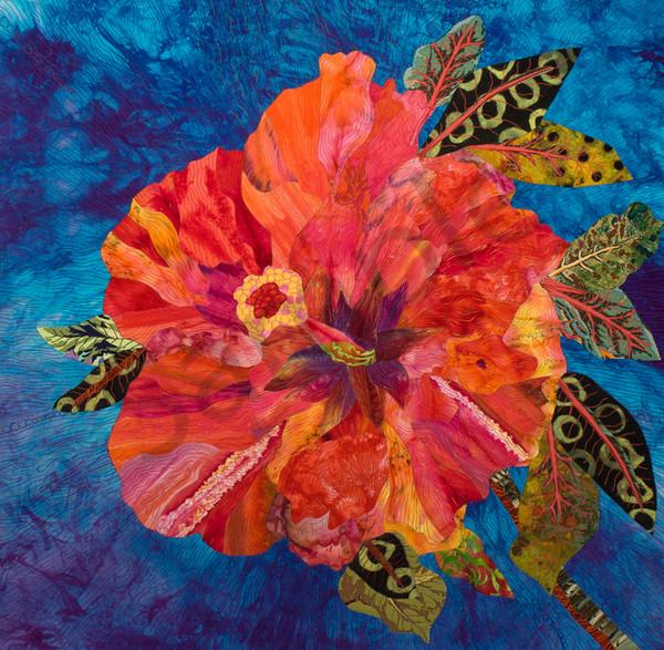 Tropical Flower Art | Barbara Olson Fiberarts