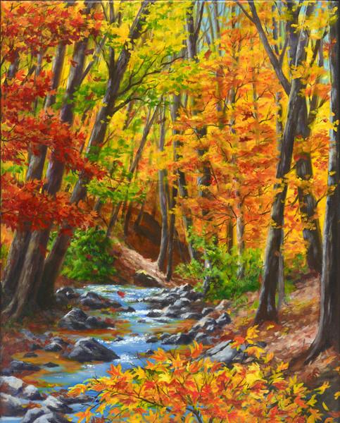 Vibrant Glen Art | Roxana Sinex Art