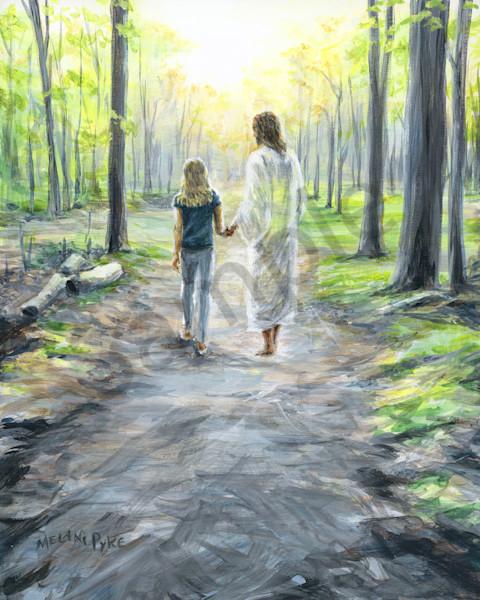 """Walking With Jesus"" by Canadian Artist Melani Pyke   Prophetics Gallery"