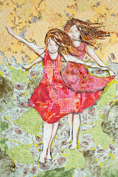 Follow the leader print from a Sharon Tesser textile mosaic