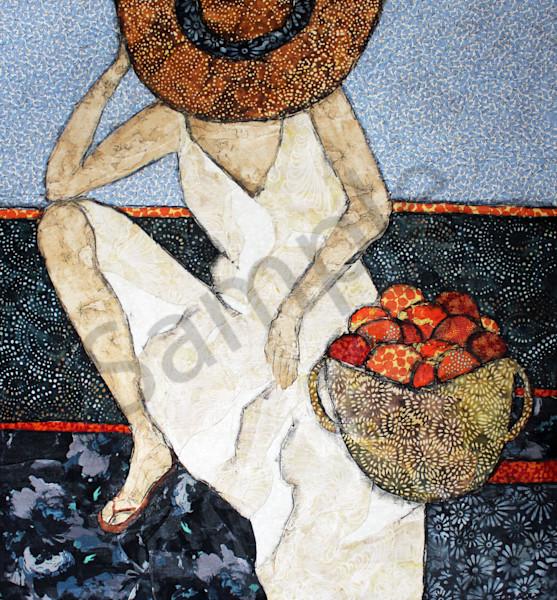 After Market Print from a Sharon Tesser original textile mosaic